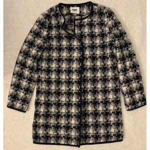 Old Navy Womens Tweed Blazer Coat Sz S Collarless